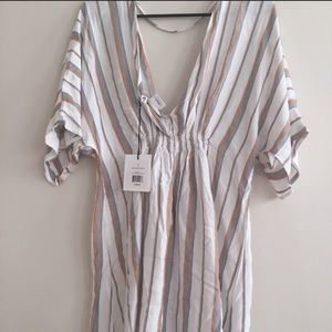 Brand new swimsuit coverup can be worn as a dress.